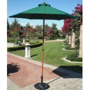 6.5' Wooden Market Umbrella - Green