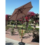 6.5' Wooden Tilt Market Umbrella - Khaki