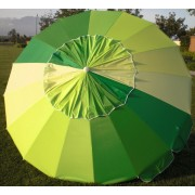 8' Green Rainbow Tilt Beach Market Umbrella