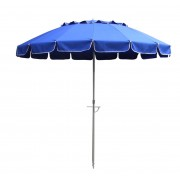 8' Navy Blue Tilt Beach Market Umbrella