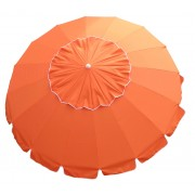8' Orange Tilt Beach Market Umbrella