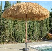 8' Tiki Thatched Hula Market Umbrella - Natural Color
