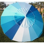 8' Blue Rainbow Tilt Beach Market Umbrella